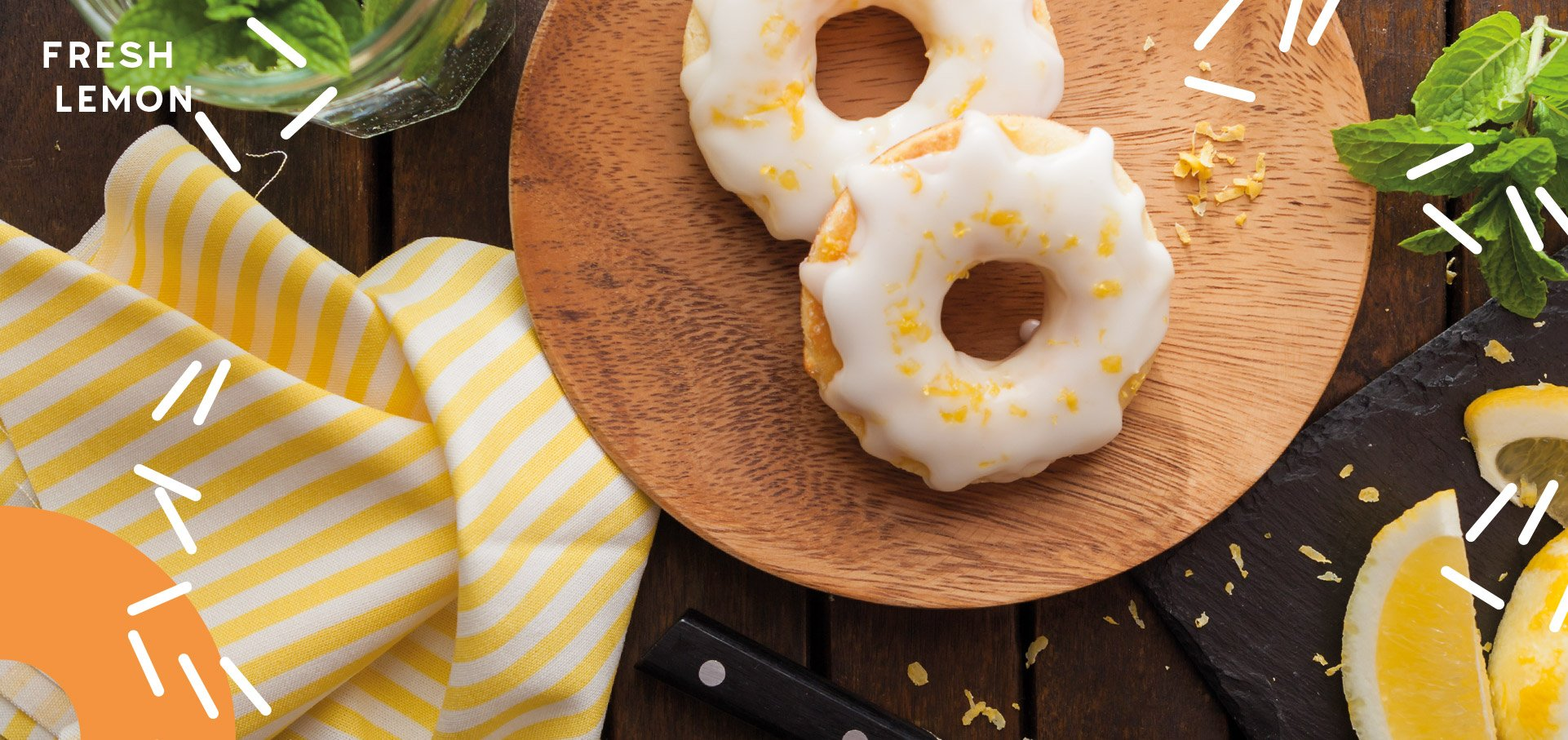 FRESH LEMON Protein Donuts Hilo Donuts
